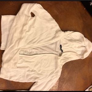 White brandy Melville knit zip up sweater